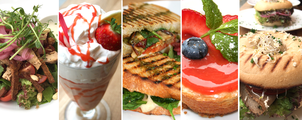 Salads, mylkshakes, grilled sandwiches, bagels and sweets at Delivore
